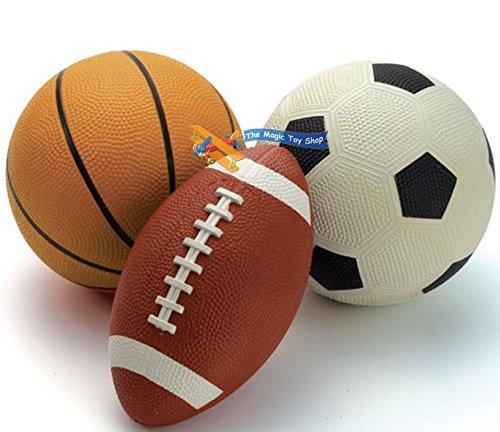 eMarkooz Juego de 3 Pelotas de fútbol para Jugar al Aire Libre en ...