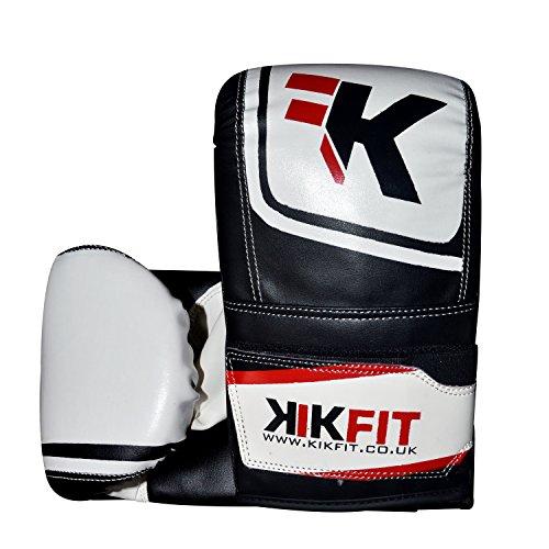kikfit Boxsack Handschuhe Sparring Handschuhe Muay Thai Kick Training UFC MMA Martial Arts (Kostenloser UK Versand) Weiß