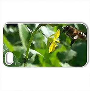 honey bee - Case Cover for iPhone 4 and 4s (Bugs Series, Watercolor style, White)