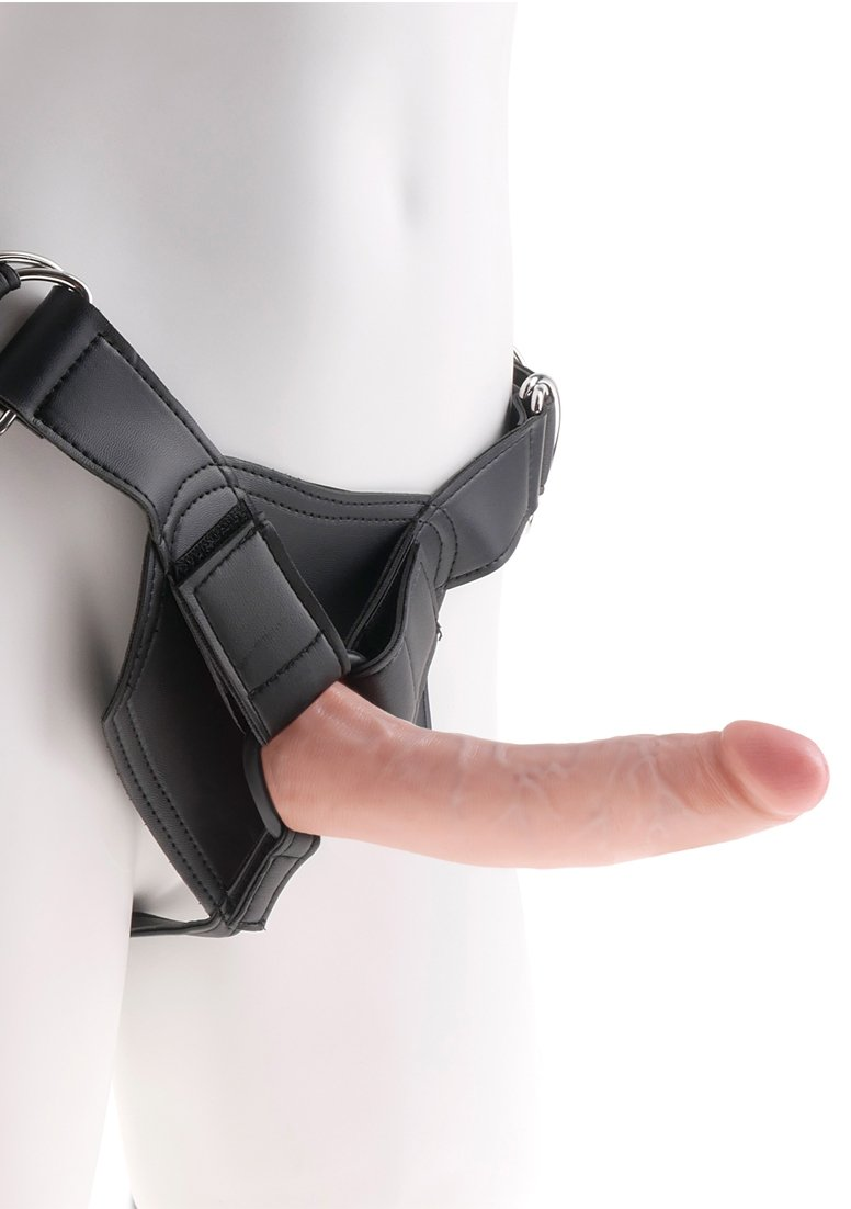 King Cock Strap-on Harness with Skin Dildo con Arnés - 638 gr ...