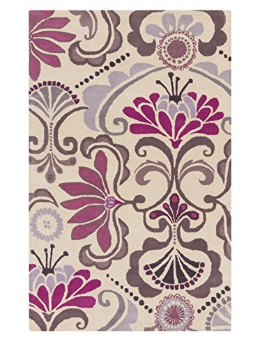 Surya Kate Spain Alhambra ALH-5016 Hand Tufted 100-Percent New Zealand Wool Floral and Paisley Accent Rug, 3-Feet 3-Inch by 5-Feet 3-Inch by Surya