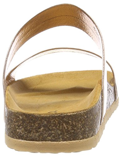 Bianco Women's Twin Strap Slip Loafers Gold (Bronze 94) Op9mYnug