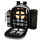 Picnic at Ascot Picnic Backpack Cooler with Blanket for Two