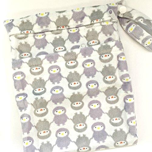 Cheeky Wipes pañales reutilizables Swim doble wetbag (dos bolsillo) pequeño/tamaño mediano/grande (tamaño grande, pingüinos)