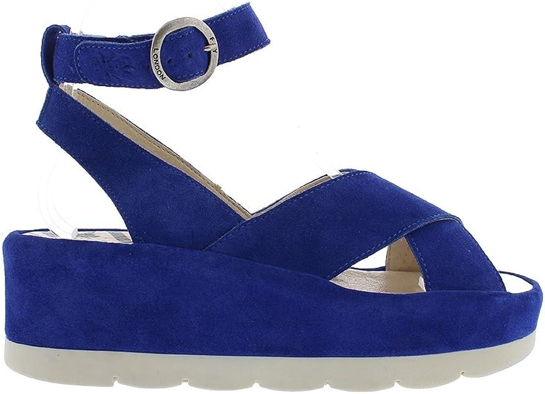 FLY London Womens Bite850fly Blue Ankle Strap Heels EUR 40