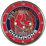 Wincraft Boston Red Sox 2018 World Series Champions Chrome Wall Clock