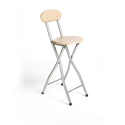Brilliant Amazon Com Yxyh Round Compact Folding Stool Padded High Customarchery Wood Chair Design Ideas Customarcherynet