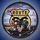 Cheap Get Your Licks on Route 66 Lighted Clock