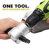 SteelTown Tools - Premium Metal Power Nibbler Drill Attachment Kit - Heavy Duty Cutting Tool for Steel, Aluminum, Iron, Plastics & More