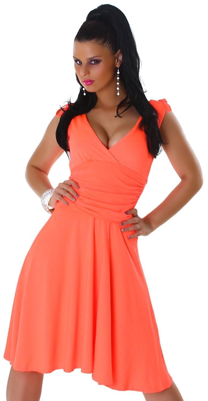 Jela London Damen Trägerkleid einfarbig & elegant Einheitsgröße (32-36)