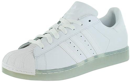 Adidas Superstar Clr tamaño de la cancha Tenis Blancos 11: Amazon.es: Zapatos y complementos