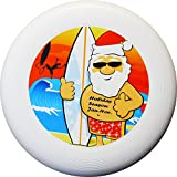 "Eurodisc 175g 4.0 ORGANIC Christmas Ultimate Frisbee Disc not Discraft special scratch resistant full color print, design Santa Clause ""Holiday Season"""