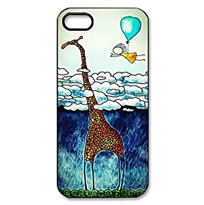 Colorful Animal Giraffe theme hard back shell for iPhone 5c
