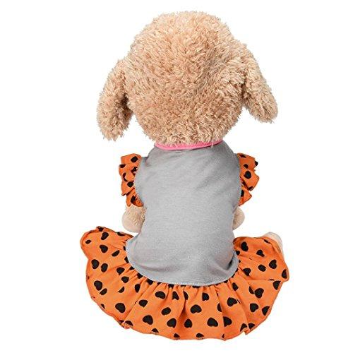 Iuhan Small Dog Dress Fashion Pet Dog T-Shirt Dress Dog Cat Cute Summer Vest Skirt (S, Gray) -