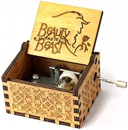 Magicmore Caja de música de la Bella y la Bestia, Mecanismo de 18 ...
