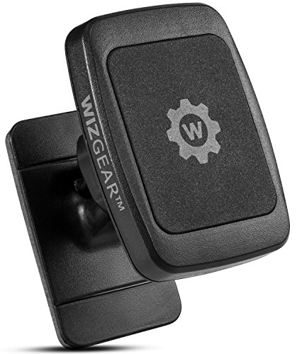 Design Snap (Magnetic Phone Car Mount, WizGear Universal Stick On Dashboard Magnetic Car Mount Holder, for Cell Phones and Mini Tablets with Fast Swift-snap Technology, (New Rectangle Stronger Design))