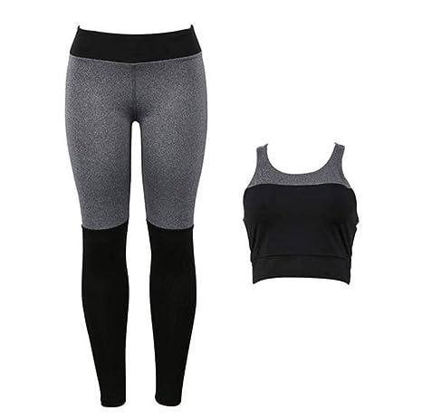 PFSYR Ropa de Yoga para Mujer Chaleco con Espalda Abierta ...