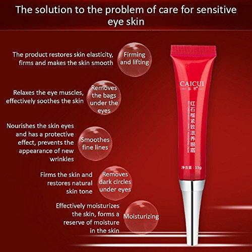 CAICUI Elastic Skin Care Eye Cream Facial Anti Puffiness Face Care Remove  Dark Circles Anti Wrinkle Aging Eyes Skin Moisturizing