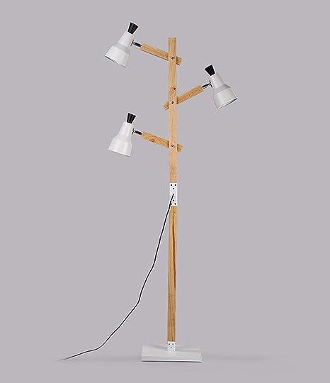ZENGAI lámpara de pie Lámpara de pie Retro Sala de Estar ...