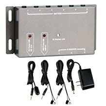 IR Infrared Remote Extender 4 Emitters 1 Receiver Repeater System Kit