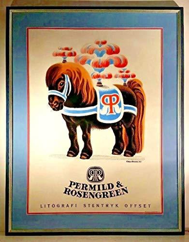StandardPictureFrames Listed Danish Artist SIKKER Hansen Sd & Dated Orig Advertising Lithograph Framed