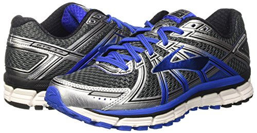 Brooks Men's Adrenaline GTS 17 Anthracite/Electric Blue/Silver 11 D US
