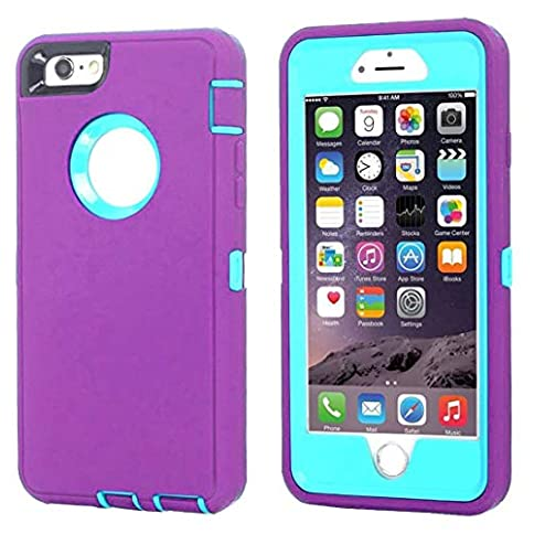 - 51MX 2BR8cIBL - Annymall Case Compatible for iPhone 8 & iPhone 7, Heavy Duty [with Kickstand] [Built-in Screen Protector] Tough 4 in1 Rugged Shorkproof Cover for Apple iPhone 7 / iPhone 8 (Light Purple)