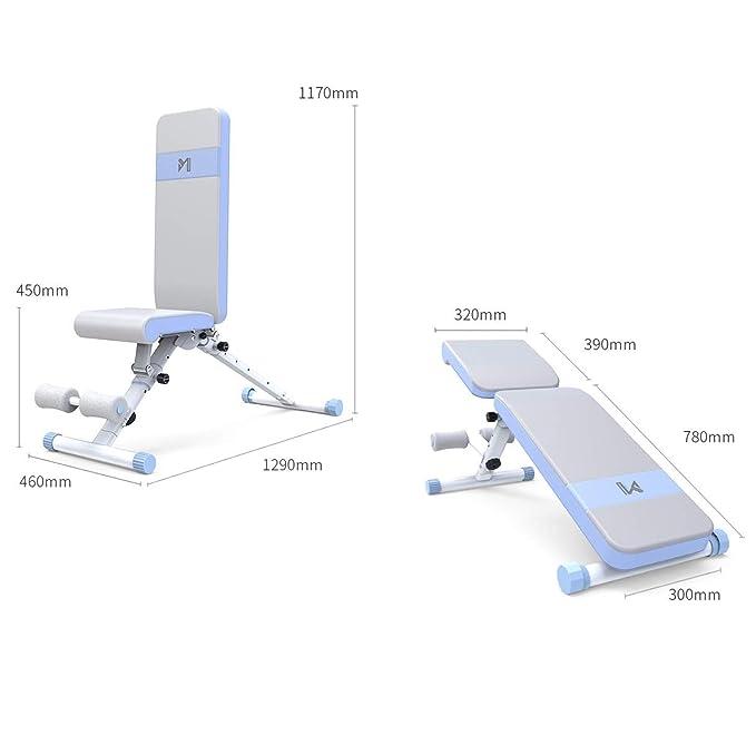 Musculación Fitness y ejercicio Equipos de gimnasia para el hogar Banco con mancuernas Taburete de musculación Dispositivo de entrenamiento con pesas ...