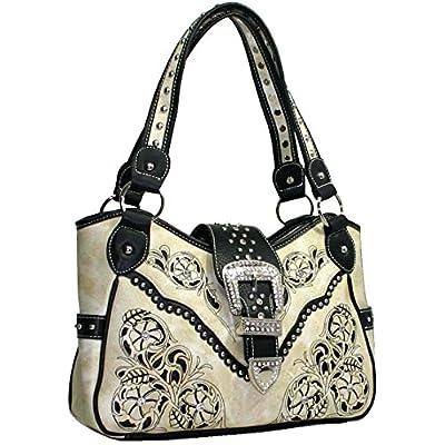 Western Rhinestone Studs Handbag Purse/Matching Wallet