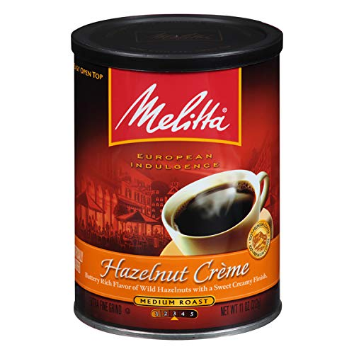 Melitta Coffee, Hazelnut Crème Flavored, Medium Roast, Ground, 11 Ounce