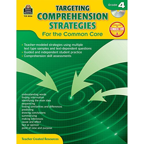 Teacher Created Resources Targeting Comprehension Strategies: For the Common Core Book with CD, Grade 4