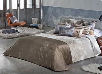 Funda nórdica adrian antilo marrón cama de 150: Amazon.es: Hogar