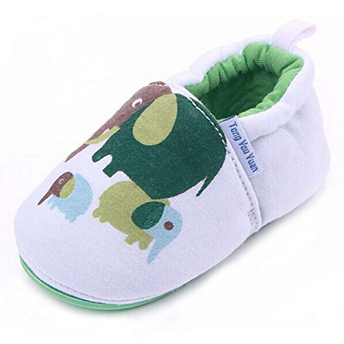 Lidiano Infant/Toddler Baby Non Slip Rubber Soft Sole Cartoon Walking Slip on Shoes for Home/Outdoors (5 M US Toddler, Elephant) - Image 7