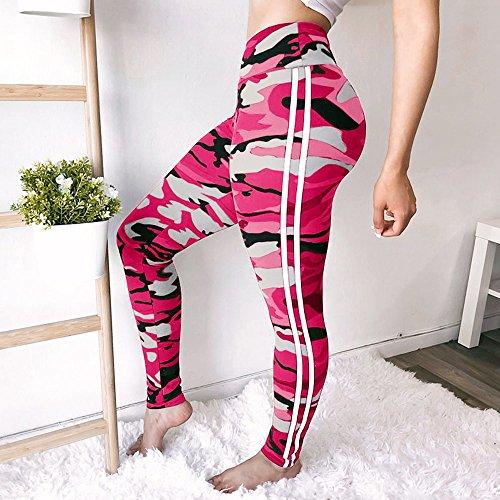 Jambe Longueur Pantalons Leggings AthlTique Pants Sports Imprimer Mode BeautyTop Yoga TaraudS Large Stretchy Workout Veau Rose Haute Une Femmes Fitness Gym Pantalon Femmes Taille Courir Ceinture ZdwxRqIxf