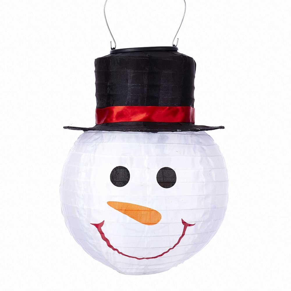 Kurt Adler 8-Inch LED Solar Energy Snowman Ornament