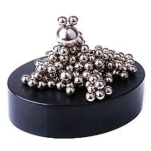 Glantop Magnetic Sculpture Desk Toy for Intelligence Development and Stress Relief (Set of 170 Balls, 1 Magnet Base)