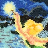 MCG Textiles Tinker Bell Latch Hook Pillow, 12x12