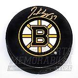 Patrice Bergeron Boston Bruins Signed Autographed Bruins Large B Logo Puck