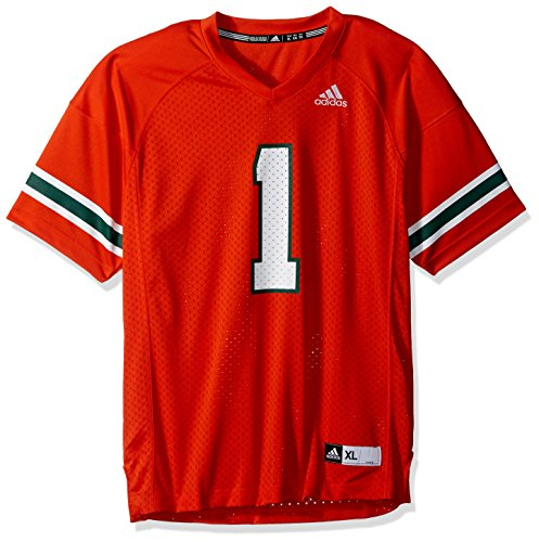 (Outerstuff NCAA Miami Hurricanes Youth Boys Fashion Football Jersey, XL(18), Orange)