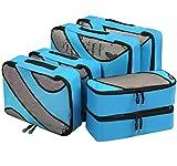 6 Set Packing Cubes,3 Various Sizes Travel Luggage Packing Organizers Blue