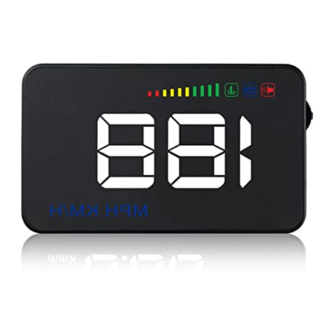 Arestech 3 5 Inches Light Weight Car Hud Head Up Display With Obd2 Euobd Display Km H Mph Speeding Warning Fuel Consumption Temperature