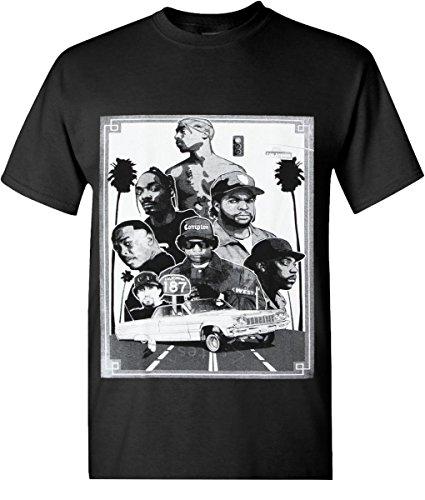 Tupac SF RAPPERS Legends Hip Hop T-Shirts Graphic 1GHP0026 (Small, - Hop Legend Hip