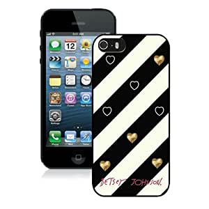 Hot Sale iPhone 5 5S Screen Cover Case With Betsey Johnson 07 Black iPhone 5 5S Case Unique And Beautiful Designed Phone Case