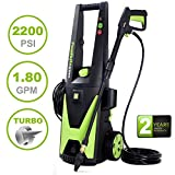 PowRyte Elite 2200PSI 1.80GPM Electric Pressure Washer with Extra...