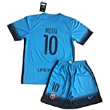 2016 Messi #10 FC Barcelona Champions League 3rd Jersey and Shorts for Kids/Youth (9-10 Years Old)