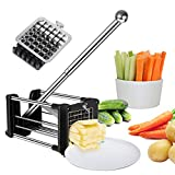 Best French Fry Cutters - French Fry Cutter Potato Chipper with 2 Interchangeable Review