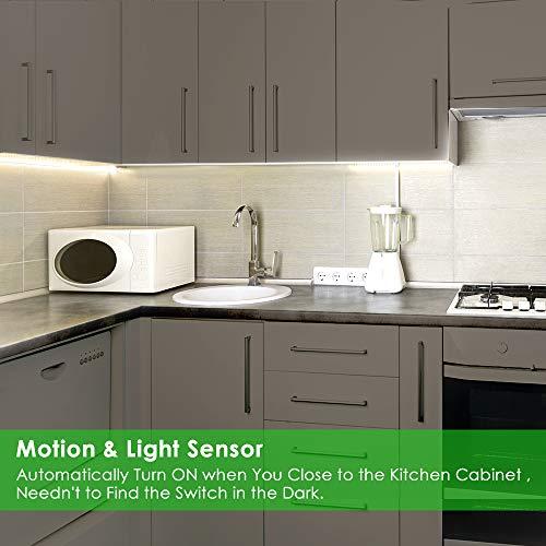 LED Closet Light, Newest Version Rechargeable 62-LED Motion Sensor Closet Light Wireless Under Cabinet Light for Closet, Cabinet, Wardrobe, 2 Sensor Mode (Motion Sensor, Motion & Light Sensor) by LOFTER (Image #1)