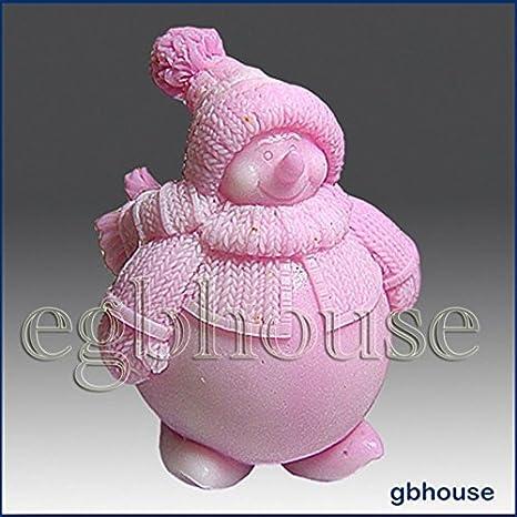 Chubby el muñeco de nieve - 3d jabón/vela/polímero/arcilla/porcelana fría moldes de silicona (: Amazon.es: Juguetes y juegos