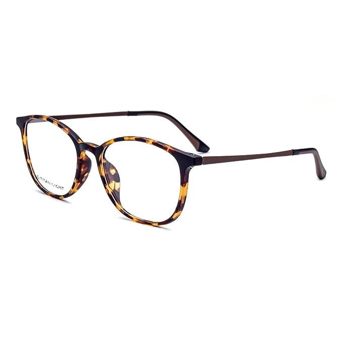 Tianou montatura per occhiali da vista TR90 anti-blu per computer (marrone) iIq21