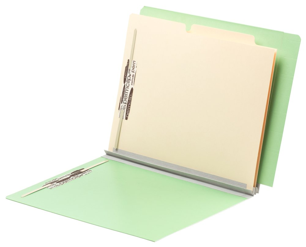 TAB FORTIfile Pressboard Classification Folder 2 Dividers Letter Size Expansion Mint Green 20/Box